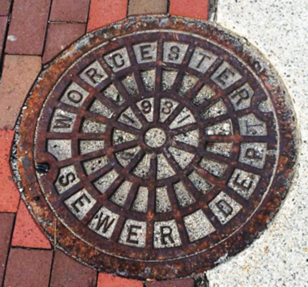 Sewer image tweeted to #drainspotting by Tata and Howard Inc.