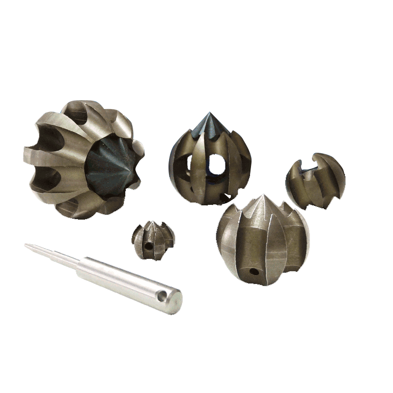 Set of TulipCutters 16/22 16/40 22/40 22/60 and 22/75 with inner universal coupling for 16/22 mm springs incl. coupling pin key