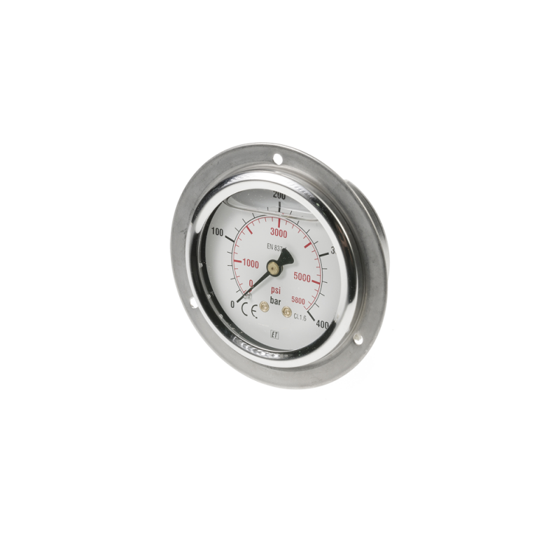 Pressure gauge 0-400 bar/psi