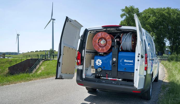 Roll Out of Rioned's Electric Van-Pack Jetter