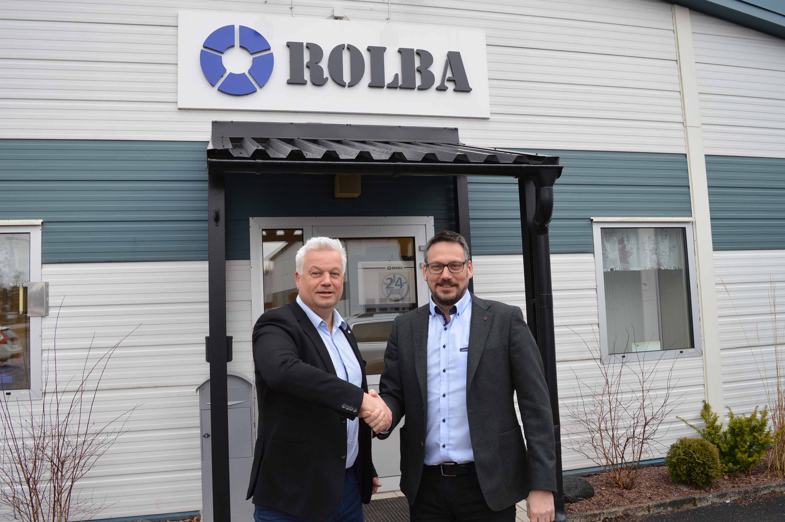 Urban Åhrlin, Managing Director of Rolba Svenska and Rioneds Hans de Laat