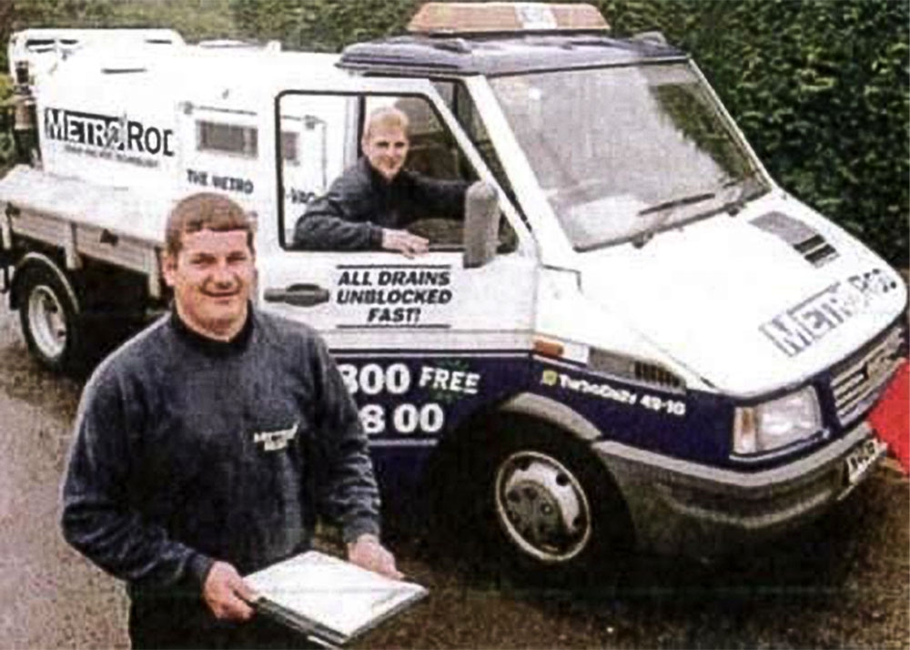 The original 6.5t Rioned Combination Unit, first purchased by Metro Rod Manchester in 1995